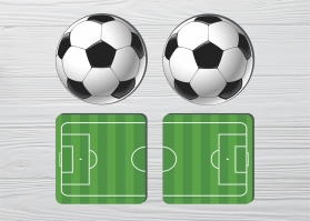 Coasters Football (4pc)