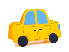 """Yellow Car"" Card"