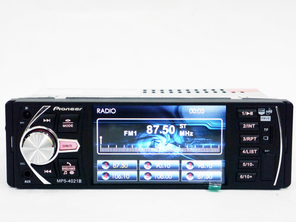 Pioneer 4021 ISO  - экран 4,1''+ DIVX + MP3 + USB + SD + Bluetooth