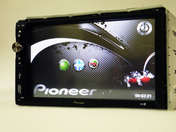 2din  Pioneer 6220 GPS+DVD+USB+SD+Bluetooth+TV