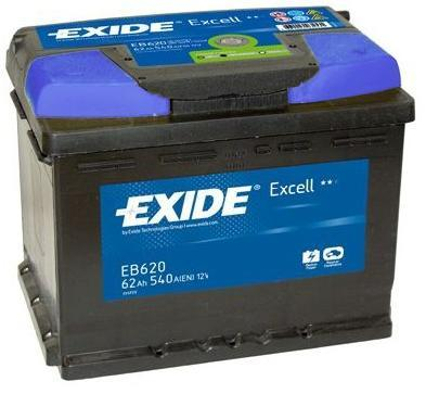 EXIDE Excell 62Ah R+ 540A