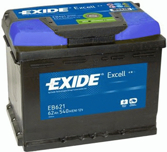 EXIDE Excell 62Ah L+ 540A