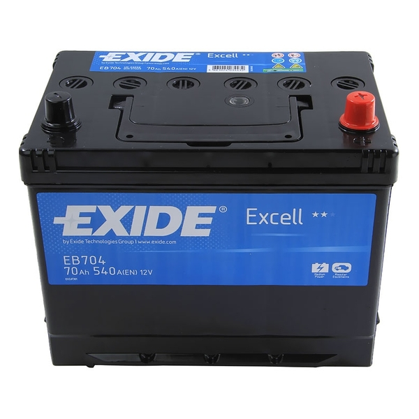 EXIDE Excell 70Ah R+ 540A (Asia)