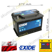 EXIDE Excell 74Ah L+ 680A