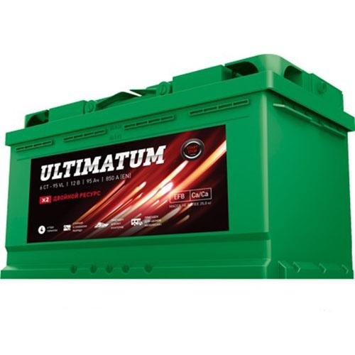 Аком Ultimatum 95Ah R+ 850A EFB 4 ГОДА ГАРАНТИЯ