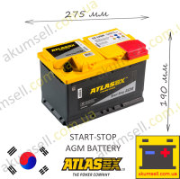 AtlasBX START-STOP 70Ah R+ 760A AGM
