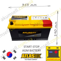 AtlasBX START-STOP 95Ah R+ 850A AGM