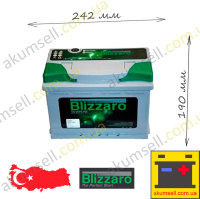 BLIZZARO Silverline 60Ah L+ 540A